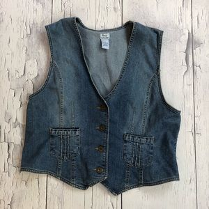 Vintage GH Bass denim vest women's xl